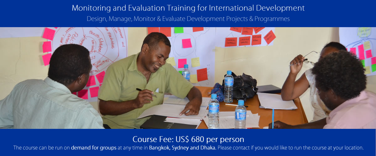 Offer for Monitoring and Evaluation Training for International Development